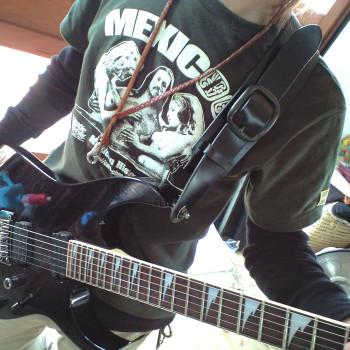 黒 70mmギターストラップ