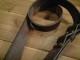 茶色 革 ギターストラップ