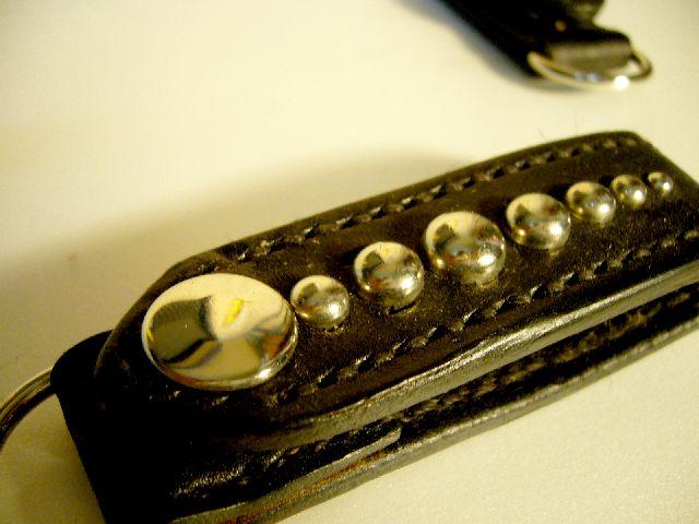 Leather half wallet w-33